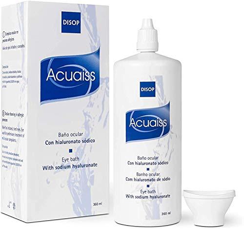 Acuaiss Baño Ocular con Acido Hialurónico para la Limpieza, Hidratación y Alivio de los Ojos (360 ml)