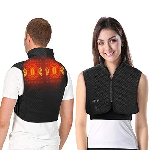 Beheizter Schulter Massagegerät Elektrisch, Massage Weste mit Wärmefunktion, Beheiztes Wärmekissen für Die...
