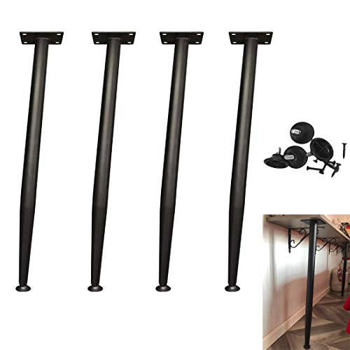 HYCy Furniture Legs,4Pcs Metal Furniture Support Legs,Modern Coffee Table Leg,Adjustable Conical Table Legs,For Laptop Table Bar Office Computer Desk Dining Table Tv Stand Cabinet,With Protector Feet