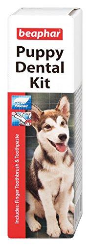 Beaphar Puppy Kitten Dental Kit Dogs & Cats Meat Flavour Anti-Plaque