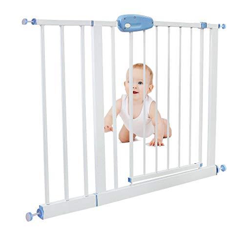 Sotech - Cancelletto Regolabile Per Porte, Cancelletto Sicurezza Bambini in Metallo, Cancelletto Di Sicurezza Per Bambini, estensione da 102 a 115 cm, Bianco
