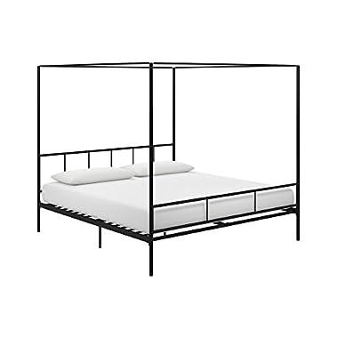 Novogratz 4194049N Marion Canopy Bed, King, Black
