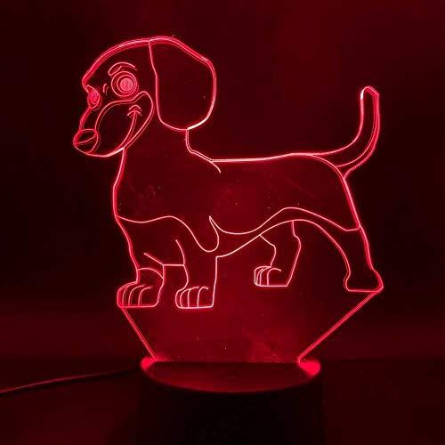 ilusión 3D Luz Nocturna Infantil 3D illusion light Ilusión Lámpara de mesa Luces con para la decoración del partido Presentes de cumpleaños Con interfaz USB, cambio de color colorido
