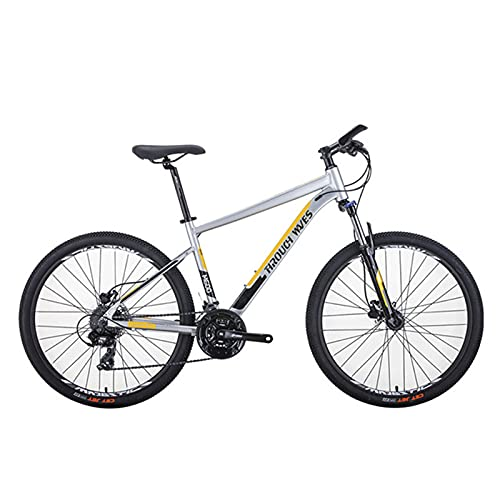 SHUI Bicicleta de montaña de 26 Pulgadas, 24 velocidades para Adultos Bicicleta de aleación de aleación de Aluminio Deportes Ciclismo Hombres Mujeres Ride Gray Yellow Black
