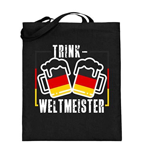 Chorchester Trink Weltmeister Bier Fans - Jutebeutel (mit langen Henkeln)