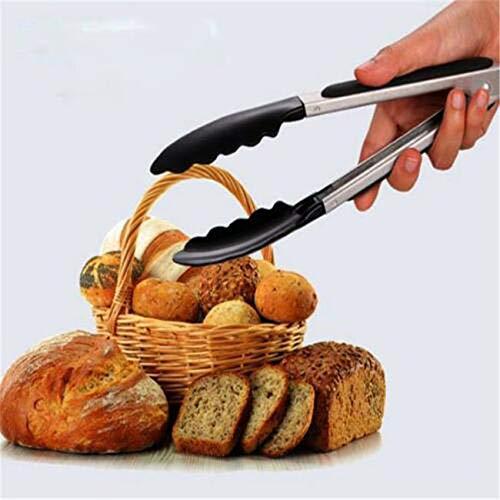L_shop Filete de Acero Inoxidable Pala frita Clips de Pan para el hogar Sujeción Suministros para Buffet de Barbacoa