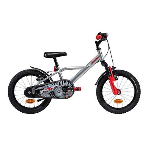 ZGQA-GQA Regalo de cumpleaños de 16 Pulgadas Bicicletas Bicicletas 4-6 años Niño de los niños for Bicicleta for los niños de Amortiguador de Kid (Color: Plata, tamaño: 16inches)