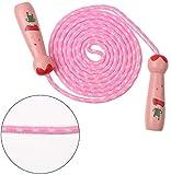 CCINEE 縄跳び 子供用 なわとび ジャンプ ロープ 木柄 幼児 運動会 体育祭 運動トレーニング用 (ピンク)