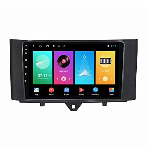 ADMLZQQ Android 10.0 Car Stereo Radio Navegación GPS para Benz Smart Fortwo 2011-2015, 9 Pulgadas Pantalla Táctil Bluetooth Carplay FM Am USB DSP Control Volante Cámara Trasera,M150s 4core 2+32g