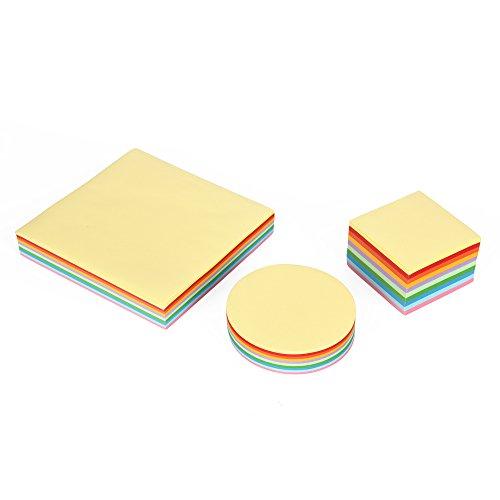 Jumbo-Set Origami-Papier, Faltpapier, 3 verschiedene Formate, insgesamt 1000 Blatt, 10 verschiedene Farben, 70 g/qm