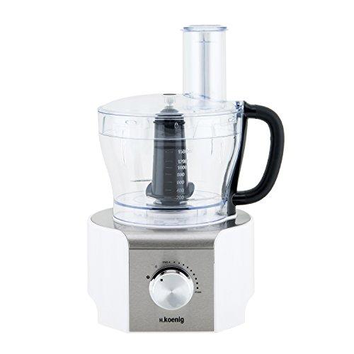 H.Koenig MX18 Standmixer / Küchenmixer / Glasbehälter / 8 Funktionen / 1.5 L / 800 W / weiß