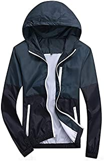 BEESCLOVER hot Sale Men and Women Sports Jacket Outdoor Zipper Waterproof Windproof Breathable Coat Brand Light Hooded Clothes Blue 4XL