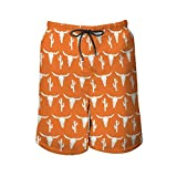 NiYoung Men Fashion Quick Dry Swim Trunks, Longhorn Cattle Cow...
