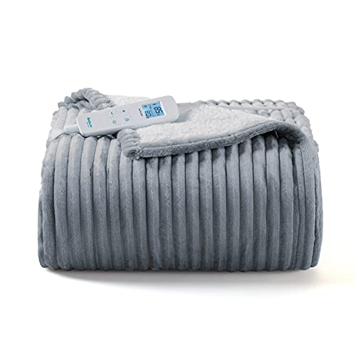 Bedsure Electric Heated Blanket Throw - 6 Heating Levels & 4...