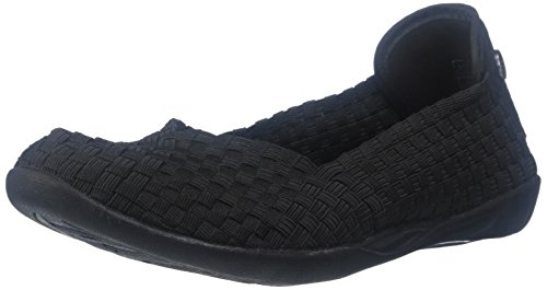 Bernie Mev Women's Braided Catwalk Flat, Black, 38 M EU / 7.5-8 B(M) US