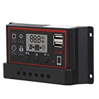 12V / 24VデュアルUSBセルパネルソーラー充電コントローラー太陽光発電システムの充電/放電パラメーター(10A)