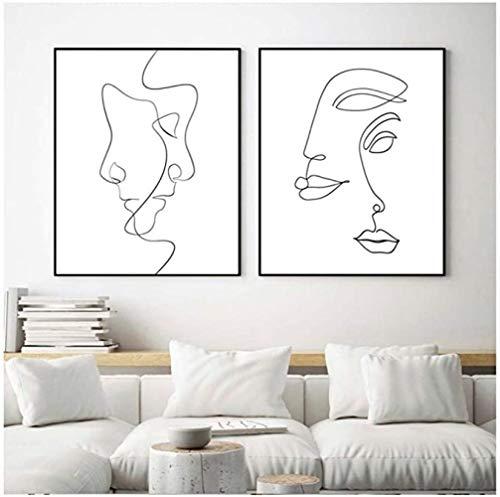 Leinwandbild, abstrakte Linie, Kunstdruck, Picasso, Kunstwerk, Zeichnung, moderne Wandkunst, Poster, Schlafzimmer, Heimdekoration, 5 x 60 x 80 cm, ohne Rahmen
