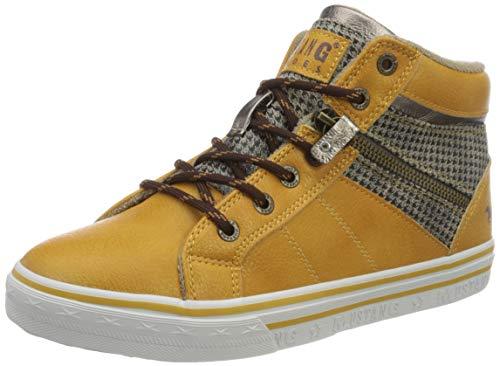 Mustang Damen 1354-504 Sneaker, Gelb(64 gelb/beige), 38 EU