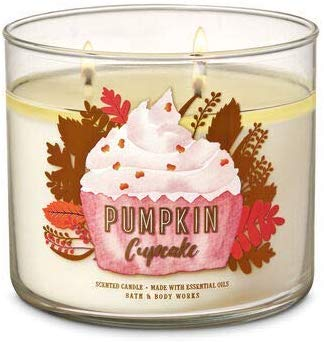 Bath & Body Works 3-Wick Candle, 14.5 oz / 411g (Pumpkin Cupcake)