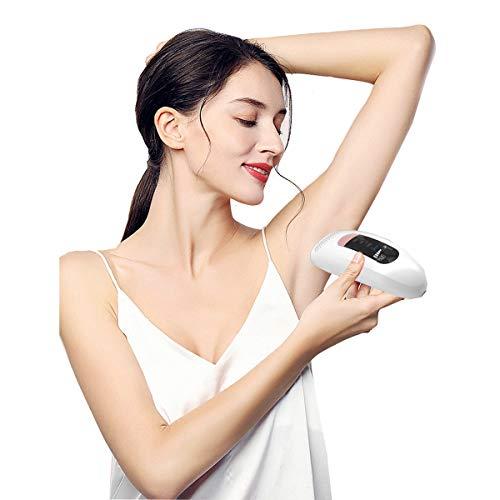 Dispositivos IPL Depilación láser Uso en el hogar Depiladora IPL 500,000 pulsos de luz para hombres y mujeres Dispositivo de depilación permanente para cuerpo, cara, zona de bikini, área íntima