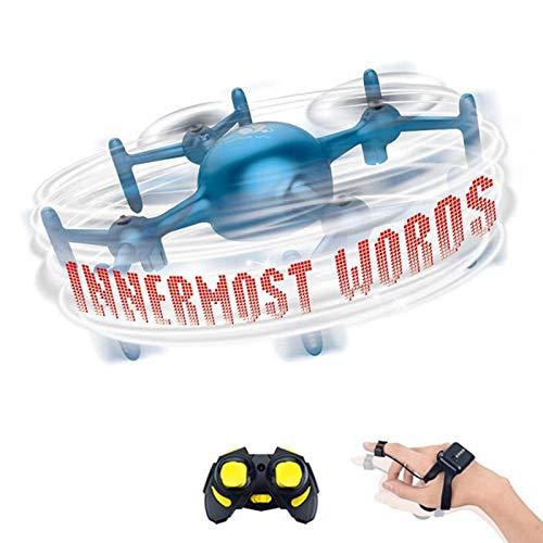 SHISHUFEN Aeronave Cuadricóptero de Control Remoto de Drones de programación de Bricolaje, Estilo: Mango + Reloj