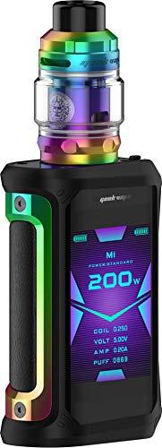 GeekVape Aegis X 200 Watt + Z Subohm 5ml Tank im E Zigarette Set - Farbe: regenbogen-schwarz