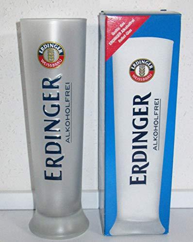 Erdinger / Gläser/Weißbierglas/weiß satiniert/Alkoholfrei / 1 x 0,5 Liter