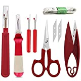 Kalolary Juego de costura con 7 piezas de herramientas de costura, kit de costura con herr...