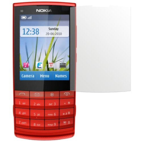 dipos I 2X Schutzfolie matt kompatibel mit Nokia X3-02.5 Folie Displayschutzfolie