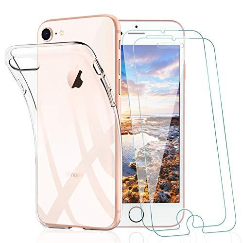 KEEPXYZ Funda para iPhone 7 / iPhone 8 + 2 Pcs Protector...
