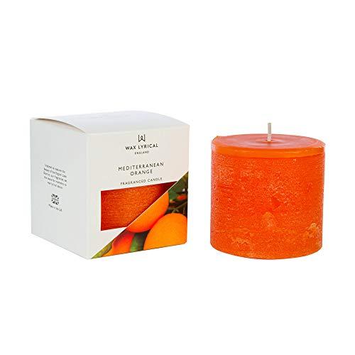Wax Lyrical - Difusor de varillas (aroma mediterráneo), color naranja, Pillar Candle