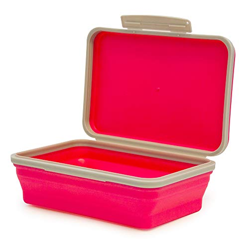 It's Academic Flexi Storage Box, Folding, Collapsible and Adjustable for Pencils, Supplies, and More, Pink