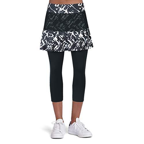 Leggins para mujer, falda de tenis de longitud 3/4, pantalones capri con bolsillos