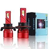 Alla Lighting Mini FL-BH H13 9008 LED Headlight Bulbs 12500 Lumens Newest High Power 90W Xtreme Super Bright 6000K Xenon White...
