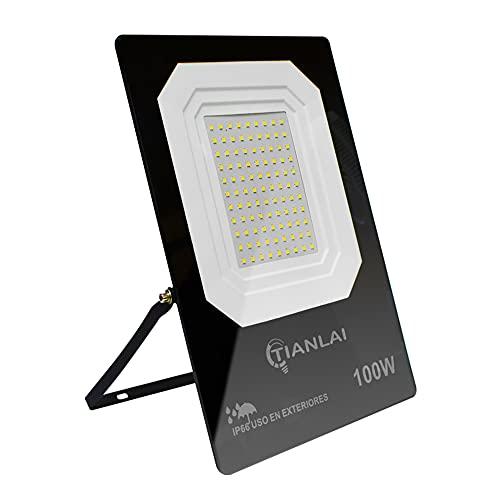 Tianlai R13W100S08 Lámpara led Exterior 100W. Reflector led Ultradelgado. ip66 Resistente Al Agua Y Polvo. No Sumergible. Alta Eficiencia De Luz.