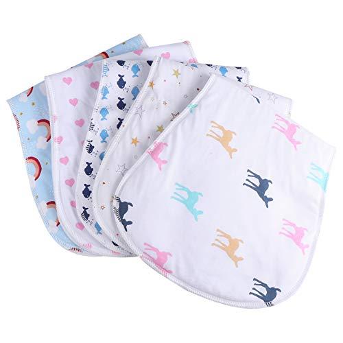 EXCEART 5 Piezas Paños para Eructos para Bebés Mantas para Bebés Absorbentes Suaves Pañuelo Toalla de Saliva Paño de Lavado para Paños para Eructos Recién Nacidos Colores Surtidos