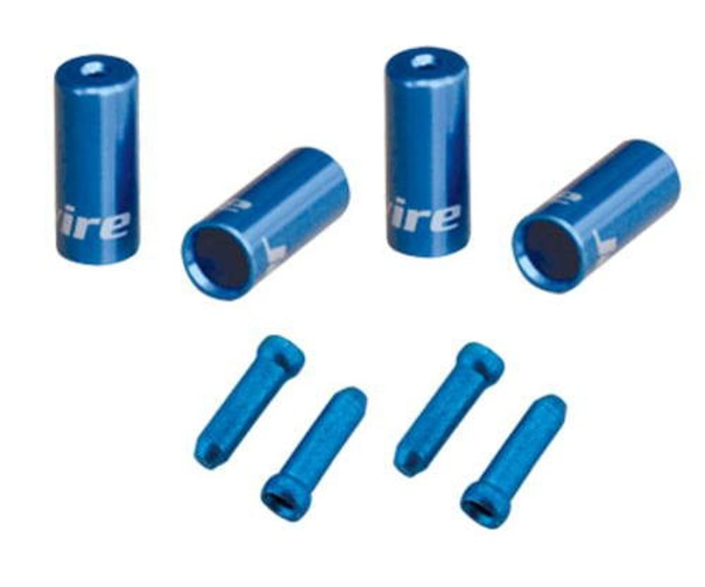 出会いジョガー酸JAG WIRE(ジャグワイヤー) Universal Pro End Cap Pack 4.5mm/5mm ブルー CHA099-UJ