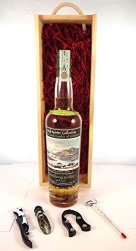 Photo of Bruichladdich 12 Year Old Islay Scotch Whisky 1991 High Spirits Collection Bottling in a wooden box with four wine accessories, 1 x 750ml