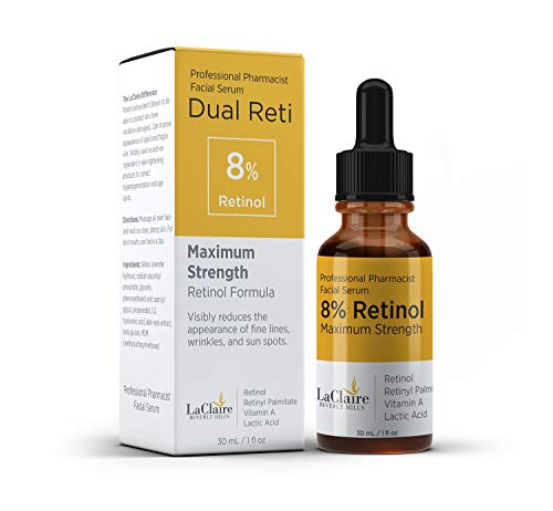 LaClaire 8% Retinol Complex Serum - Best Retinol Serum for Wrinkle Repair & Hyperpigmentation Treatment, Vitamin A Serum, Best Retinol Serum, Retinol Serum, Retinol super strength (15ml/0.5oz) LaClaire