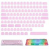 109 Pcs POM Jelly Keycaps, Doubleshot Translucent OEM Profile Blank Keycaps for DIY Mechanical...