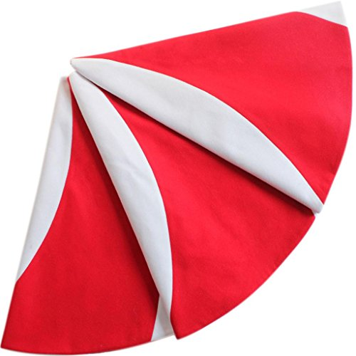 SORRENTO Patchwork Red with White Lollipop Design Christmas Tree Skirt (49'-50')