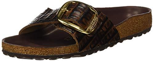 Birkenstock Madrid Big Buckle Mules/Clogs Women Brown - 7.5 - Mules Shoes