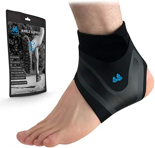 BLUE PINE Ankle Support Adjustable Lightweight Ankle Brace Breathable Material Ankle Sleeve product image