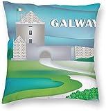 BONRI Stad Gebouw Poster Galway Ierland Retro Reizen