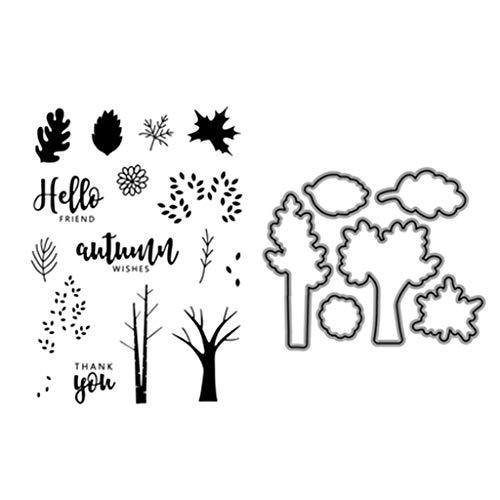 Koehope Stanssjablonen voor de herfst, metalen sjablonen voor het snijden van scrapbooking, plakboeken, sjablonen, papier en kaarten