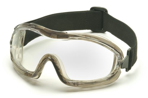 Pyramex Safety Products Low Profile Chemical Splash Goggles, Clear Anti-Fog Lens