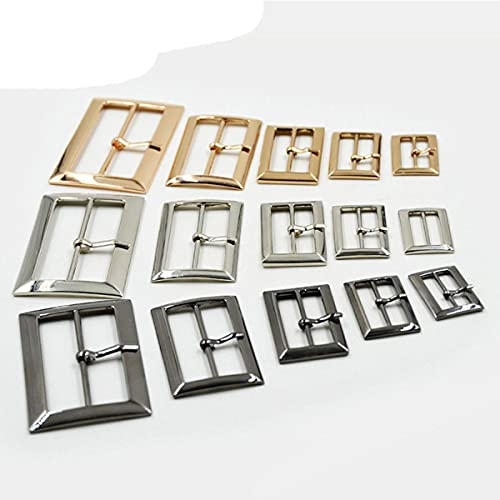10 unids/lote 20mm / 25mm / 30mm / 40mm / 50mm plata bronce dorado cuadrado zapatos de metal bolsa hebillas de cinturón decoración DIY accesorio de costura-30mm, plata antigua