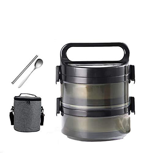 DUDDP ConteniTermico per Alimenti Lunch Box Cibo Flask, Barattolo di Vetro Acciaio Inossidabile ha Isolato Alimentare con Il Cucchiaio e Isolante Borsa, a Doppia Parete Termica Soup Flask Contenitore
