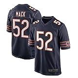 Poick Youap JJ Al aire libre Americano Fútbol Camisetas Ropa Khalil Chicago #52 Negro Mack Osos Juego Jersey Repetible Limpieza Entrenamiento Camisa Para Hombres
