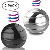 DBlosp Kinetic Desk Toys,Full Body Optical Illusion Fidget Spinner Ball, Anti Anxiety ADHD Relieve Stress Inspire Inner, Gifts for Men,Women,Kids 1.5'/3.8cm Size (2 Pack)